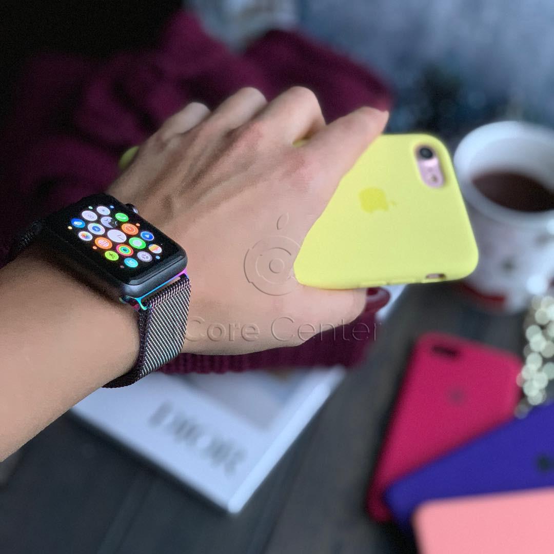 Ремінець Milanese Loop for Apple Watch 38 / 40mm CHAMELEON PINK