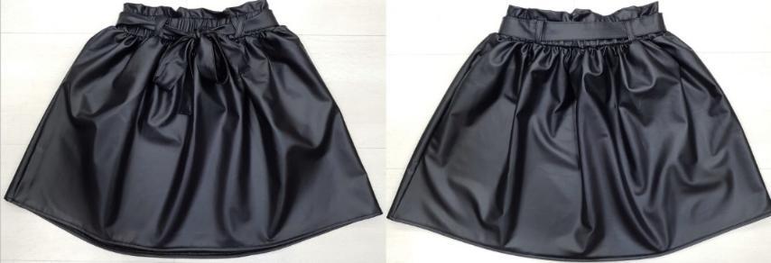 Стильная юбка для девочки кожа  р. 140-176