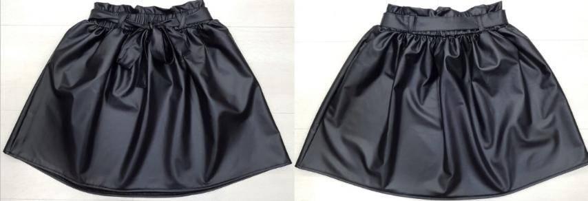 Стильная юбка для девочки кожа  р. 140-176, фото 2