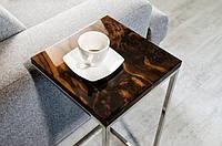 Кофейный столик из массива дерева американский орех лофт