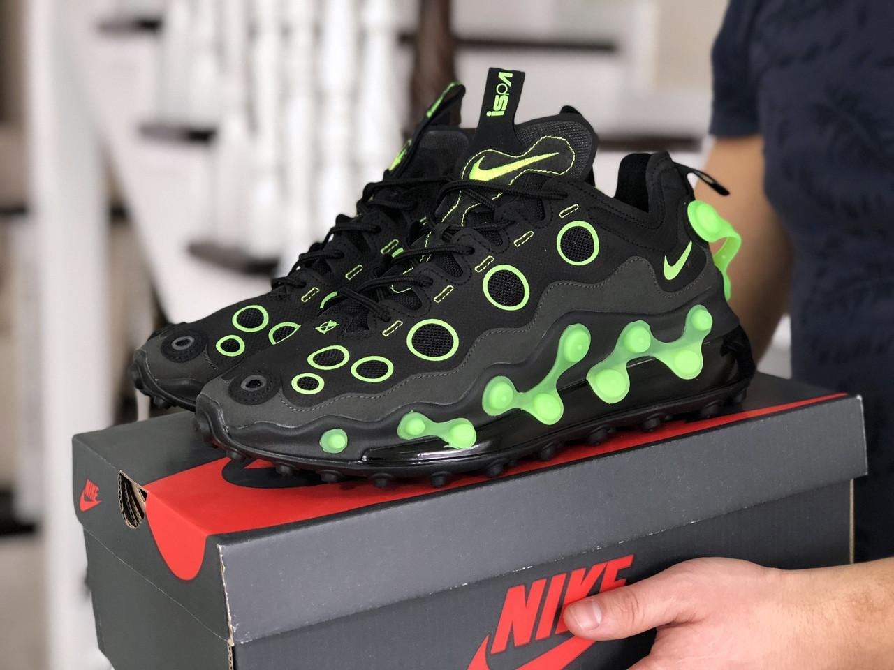 Мужские кроссовки Nike air max 720 ISPA,черные с зеленым