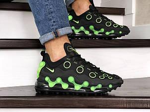Мужские кроссовки Nike air max 720 ISPA,черные с зеленым, фото 2