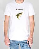 Прикольная футболка с принтом для рыбалки, фото 3