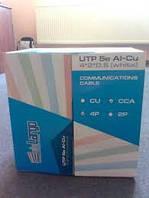 Кабель витая пара,интернет кабель,Delargo UTP cat 5E 4х2х0,5 CCA PVC 305м