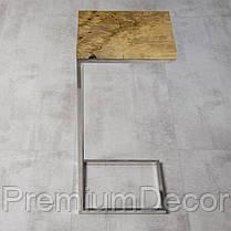 Кофейный столик из массива дерева тополь лофт, фото 2