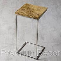 Кофейный столик из массива дерева тополь лофт, фото 3