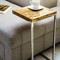 Кофейный столик из массива дерева тополь лофт