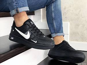 Мужские демисезонные кроссовки Nike Air Force,черно белые, фото 2