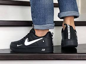 Мужские демисезонные кроссовки Nike Air Force,черно белые, фото 3