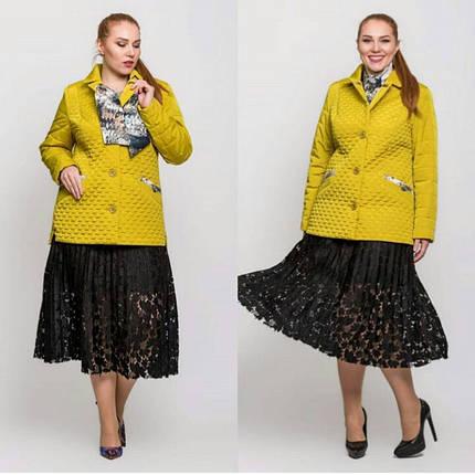 Жіноча демісезонна куртка батал - М 3656, фото 2