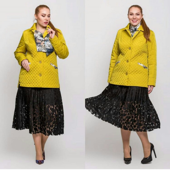 Жіноча демісезонна куртка батал - М 3656