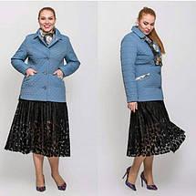 Жіноча демісезонна куртка батал - М 3656, фото 3