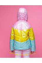 Стильная демисезонная куртка для девочки с дождевиком VKD-18 р.110, фото 2