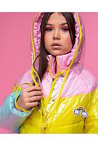 Стильная демисезонная куртка для девочки с дождевиком VKD-18 р.110, фото 3