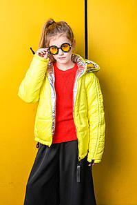 Стильная демисезонная двухсторонняя куртка для девочки VKD-24