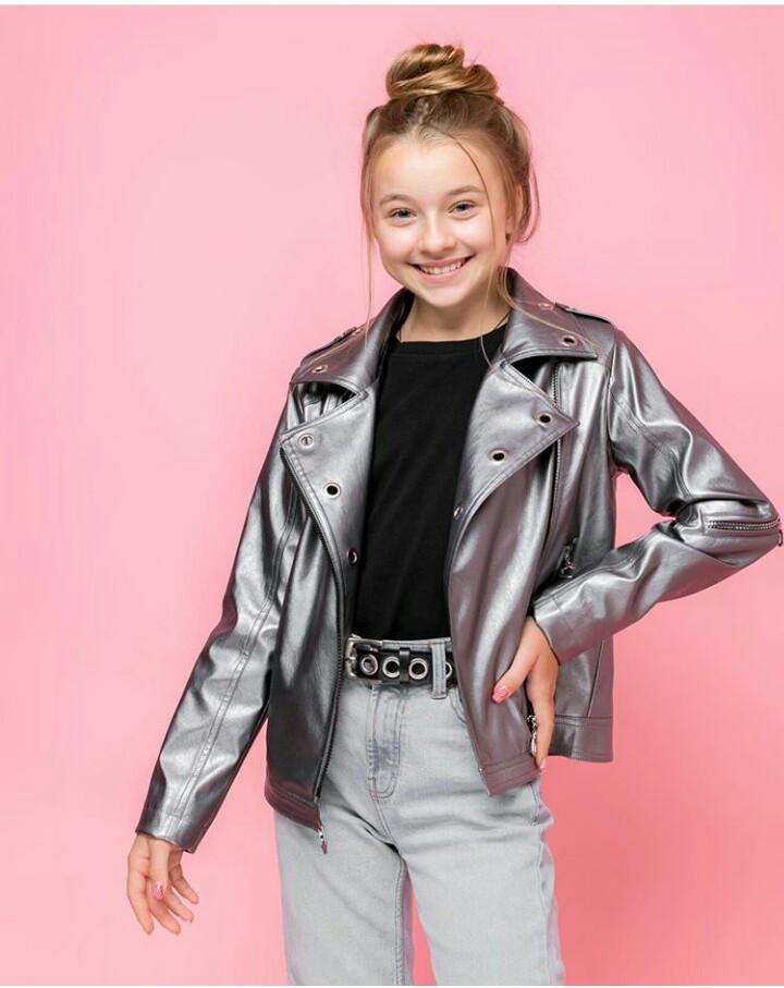 Шикарная куртка-косуха на девочку VKD-21