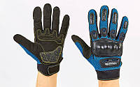 Мотоперчатки SCOYCO MC01-B размер M-XXL синий-черный