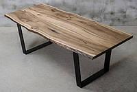 Стол из массива дерева грецкого ореха лофт мебель