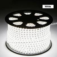 Светодиодная лента в силиконе 220В 60LED белый холодный IP65, фото 1