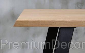 Стол из массива дерева грецкого ореха лофт мебель, фото 2