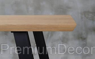 Стол из массива дерева грецкого ореха лофт мебель, фото 3