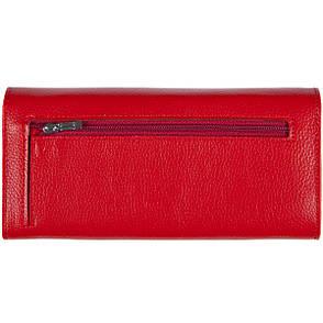 Женский кожаный кошелёк  KOCHI красный 190х95х30  с застёжкой кнопка м КУ2091кр, фото 2
