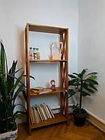Стелаж з натурального дерева 150*60*25 см (Стелаж з натурального дерева 150*60*25 см), фото 1
