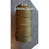 ПЭФ шнур 5мм №34 Оливковый 160метров, фото 2