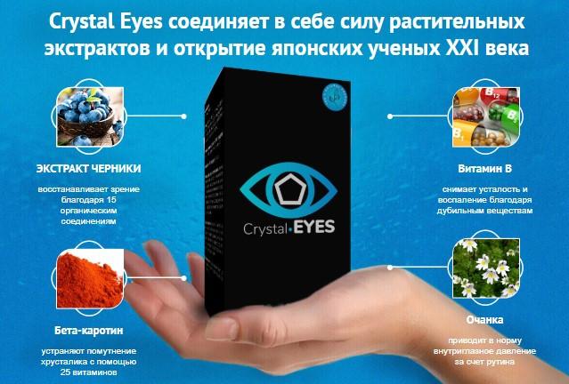 склад капсул для поліпшення зору Crystal Eyes
