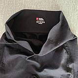 Спортивний костюм жіночий для фітнесу. Комплект безшовний (рашгард, легінси), розмір S (чорний), фото 8