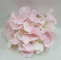 Гортензия -искусственный цветок(головка),цвет бело- розовый d-14см, фото 1