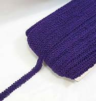"""Цветная тесьма """"шубная""""лилово фиолетовая ,ширина 1.2см, фото 1"""