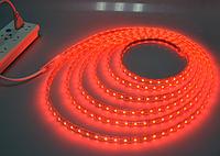 Светодиодная лента в силиконе 220В 60LED красный IP65