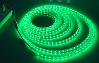 Светодиодная лента в силиконе 220В 60LED зеленый IP65
