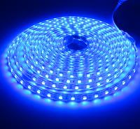 Светодиодная лента в силиконе 220В 60LED синий IP65
