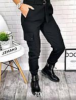 Черные брюки с карманами по бокам С 2006
