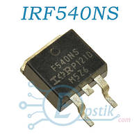 IRF540NS, MOSFET транзистор, N channel, 100В, 33А, TO263
