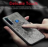 Wolfru чехол тканевый противоударный Xiaomi Redmi Note 8 с площадкой под магнитный держатель Цвет Серый, фото 2