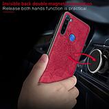 Wolfru чехол тканевый противоударный Xiaomi Redmi Note 8 с площадкой под магнитный держатель Цвет Серый, фото 5