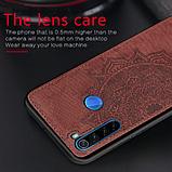 Wolfru чехол тканевый противоударный Xiaomi Redmi Note 8 с площадкой под магнитный держатель Цвет Серый, фото 6