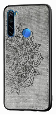 Wolfru чехол тканевый противоударный Xiaomi Redmi Note 8 с площадкой под магнитный держатель Цвет Серый
