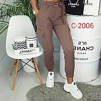 Трендовые жеские брюки цвета мокко С 2006