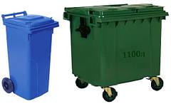 Пластиковые контейнеры ТБО, баки мусорные