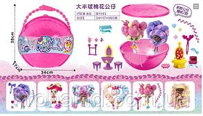 """Большой полушар Куклы """"Candylocks"""" B1163 с мебелью - 38 см / кукла Кендилокс с волосами из сладкой ваты, фото 3"""