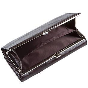 Кожаный женский кошелёк KOCHI с застёжкой кнопка 185х95х30 коричневый цвет м К-306кор, фото 2
