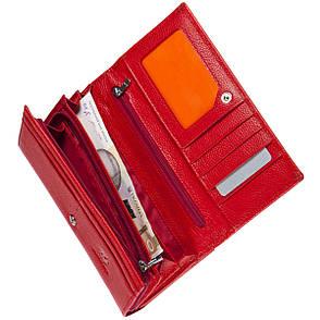 Кожаный женский кошелёк KOCHI красный с застёжкой кнопка 185х95х30  м К-306кр, фото 2