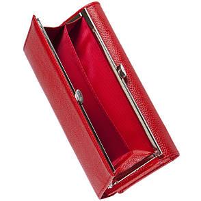 Шкіряний жіночий гаманець KOCHI червоний з застібкою кнопки 185х95х30 м К-306кр, фото 2