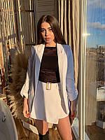 Женский костюм пиджак и юбка-шорты (черный, белый,розовый, размер: 42,44,46,48)можно приобрести по отдельности, фото 1