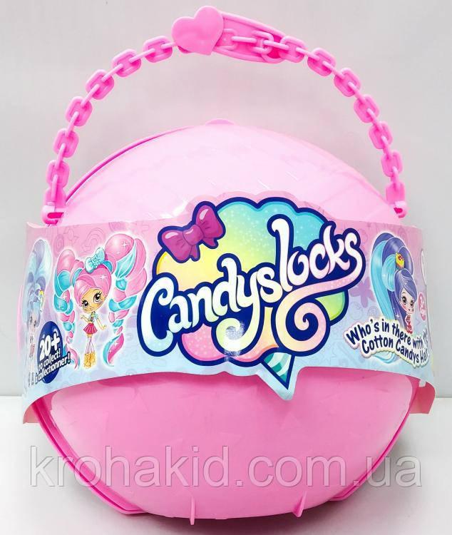 """Большой полушар Куклы """"Candylocks"""" B1164 с мебелью - 38 см / кукла Кендилокс с волосами из сладкой ваты"""