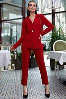 Женский брючный костюм молодежный 42-48 размера красный